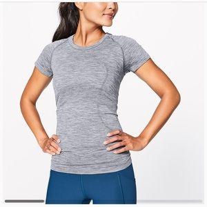 Lululemon swiftly tech short sleeve (dark grey)